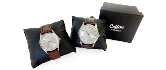 Cotton Traders His & Hers watches